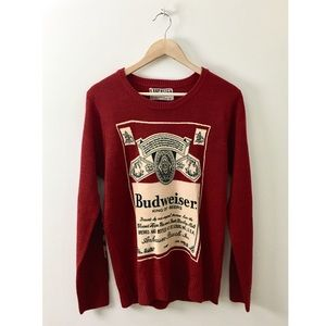 Vintage 1970s Budweiser Knit Sweater